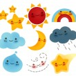 Collection of weather Icon — Stock Vector #30155897
