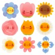 Collection of Cute Flowers — Stock Vector #30156095