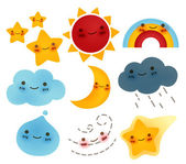 Collection of weather Icon — Stock Vector