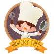 cute cartoon chef-kok — Stockvector