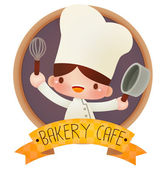 Cute cartoon chef — Stock Vector