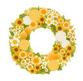 Sweet flower wreath card — Stockvektor