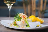 Steamed fillet of sea bass — Stock Photo