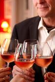 Celebrating With Wine — Stock Photo