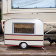 Tiny Model Caravan For A Dog. — Stock Photo