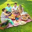 Friends having a picnic — Stock Photo