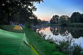 Sunset At The Campsite. — Stock Photo