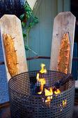 Fumar filetes de salmón. — Foto de Stock