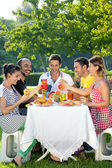 Group of multiethnic friends — Stock Photo