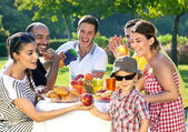 Multiethnic group of friends — Stock Photo