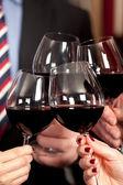 Red wine glasses. — Stock Photo