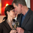 Amorous Couple On Romantic Date — Stock Photo