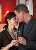 Amorous Couple On Romantic Date — Stockfoto