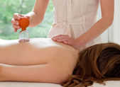 Female patient at the alternative practitioner — Stock Photo