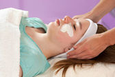 Practitioner Doing Chemical Youth Peel — Stock Photo