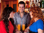Socialising At The Bar. — Stock Photo