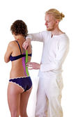 Practitioner Strapping Or Taping Spine — Foto Stock