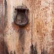 Old massive door, close-up — Stock Photo
