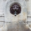 Water fountain, lion head made of bronze — Stock Photo