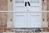 Front door, detail. — Stock Photo