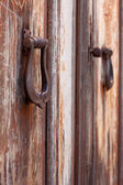 Two old door knockers, close-up — Stock Photo