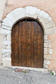 Aged wooden double door — Stock Photo