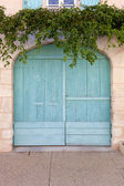 Beautiful colored garage door — Stock Photo