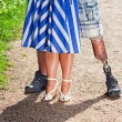 Legs of couple — Stock Photo
