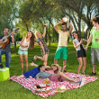 Friends having fun in the park — Stock Photo #34525475