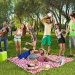 Friends having fun in the park — Stock Photo
