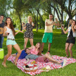 Friends having fun in the park — Stock Photo #34525477