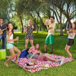 Friends having fun in the park — Stock Photo #34525483