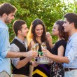Teenage friends celebrating at a birthday party. — Stock Photo #42774437