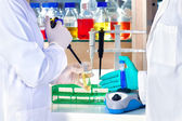 Mixing chemical solutions on a centrifuge.  — Stock Photo