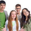 Group of young friends having fun — Stock Photo