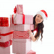 Stock Photo: Christmas, x-mas, winter, happiness concept