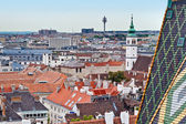 Vienna view from St Stephens dom tower — Stock Photo