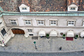 Aerial view of an old house in Vienna — Stock Photo
