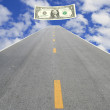 Road to make money — Stock Photo