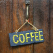 Wood coffee label — Stock Photo #32415149