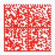 Red 2D barcode on paper — Stock Photo #32417365