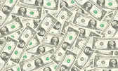 One dollar bills background — Stock Photo