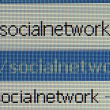 Stock Photo: Social network URL on computer mornitor