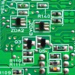 Texture, Green circuit board — Stock Photo