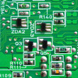 Stock Photo: Texture, Green circuit board