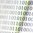 Stock Photo: 0,1, binary code on LED computer monitor