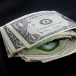 Stock Photo: One dollar bill fold