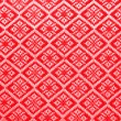 Red diamond pattern fabric  — Stock Photo