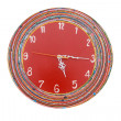 Red green clock — Stock Photo