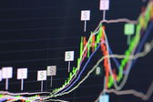Financial data- stock exchange — Stock Photo